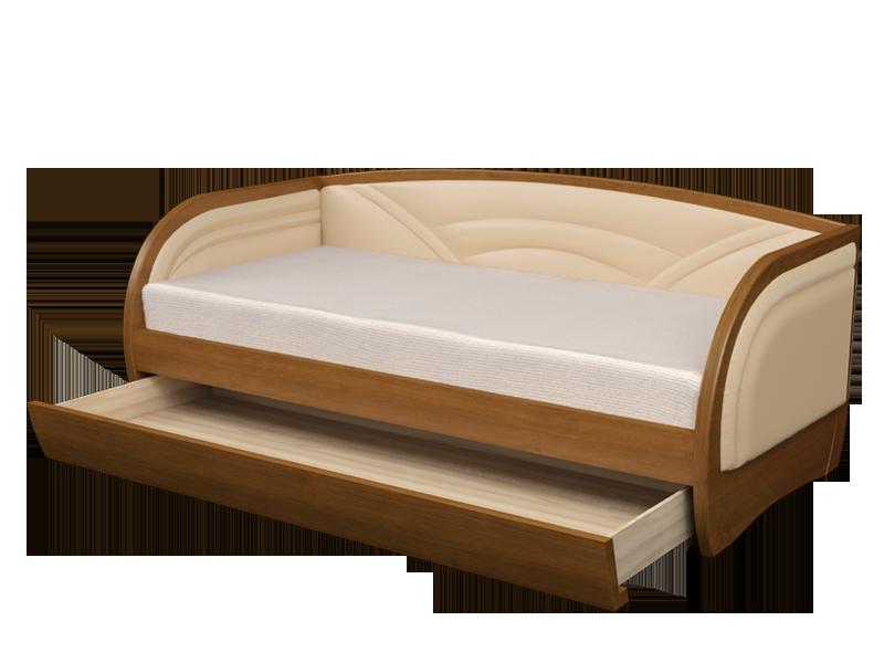Кровать полуторка с ящиками для хранения